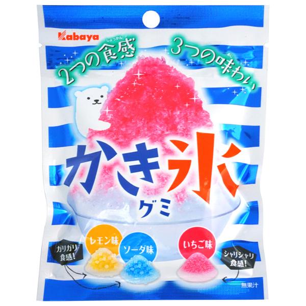100円 カバヤ 55gかき氷グミ [1箱 10袋入]