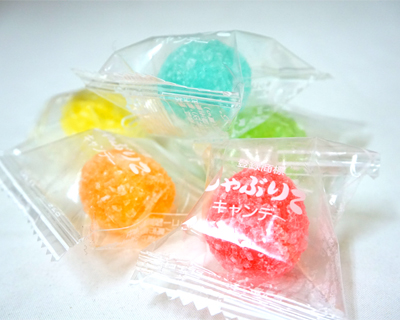 10円 キッコー ザラ付きフルーツキャンディ [1ポット 100個入]