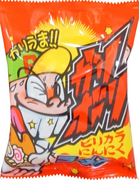 30円 やおきん ガリボリラーメン ピリ辛にんにく味 [1袋 21個入]