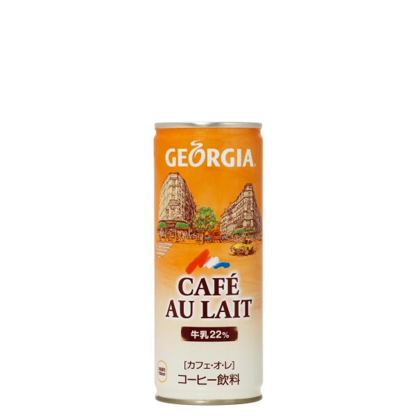 【2ケースセット】ジョージアカフェ・オ・レ 250g缶×60本