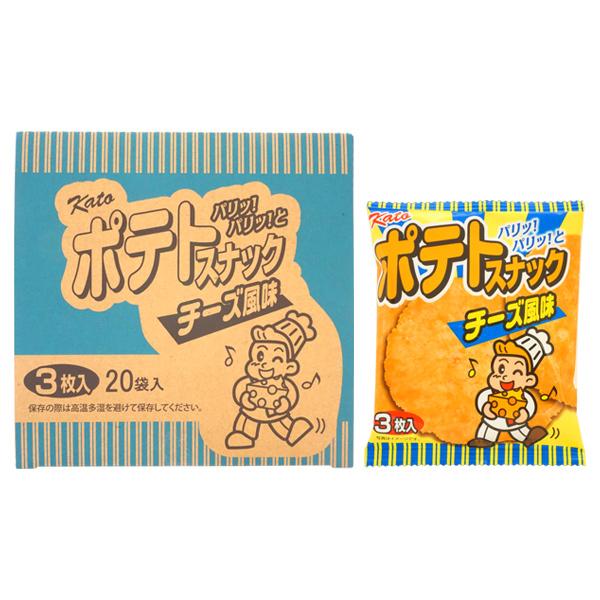 35円 かとう製菓 ポテトスナック チーズ風味 [1箱 20個入]