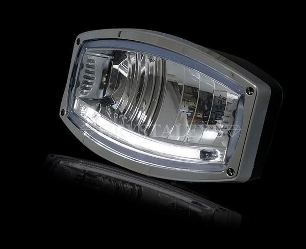 12V/24V用 LEDドライビングライト スタンダードタイプ 樽型バーライト スポットライト フォグランプ トラック/重機/トラクター/船舶などに最適