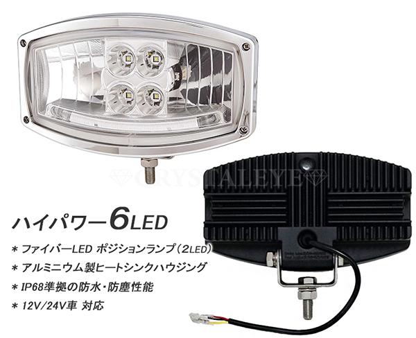 12V/24V用 LEDドライビングライト V2 樽型バーライト スポットライト フォグランプ ハイパワーLED  トラック/重機/トラクター/船舶などに最適