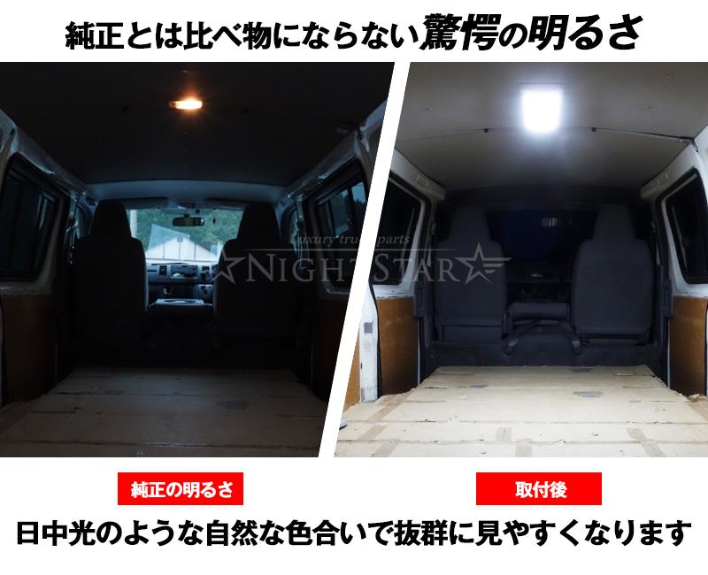 12V/24V スーパーブライトLEDインテリアライト 面発光LED トラック ルームランプ ラゲッジランプ 庫内灯 荷室灯 カーゴランプ