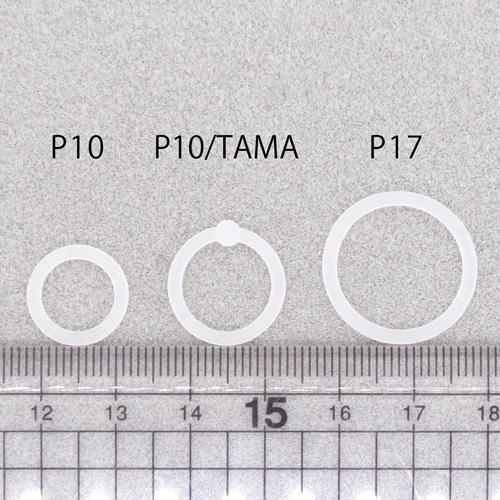 シリコンリング/P10-TAMA/内径約12mm(玉約3.5mm)/10個