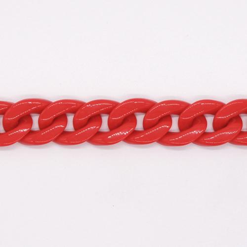プラスチックチェーン/PLC-01/レッド/20cm(16コマ)