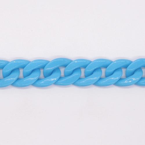 プラスチックチェーン/PLC-22/ターコイズ/20cm(16コマ)
