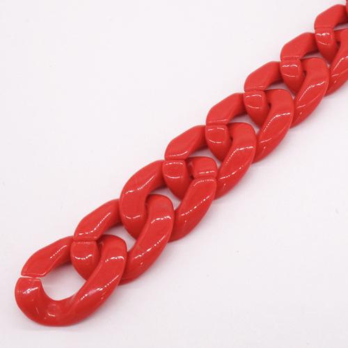 プラスチックチェーン/PLC-35/マーブルブラウン/20cm(16コマ)