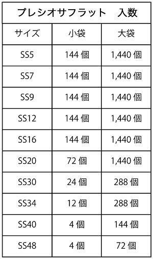 プレシオサ/ラインストーンVIVA12/ジェットオーロラ/小袋・大袋
