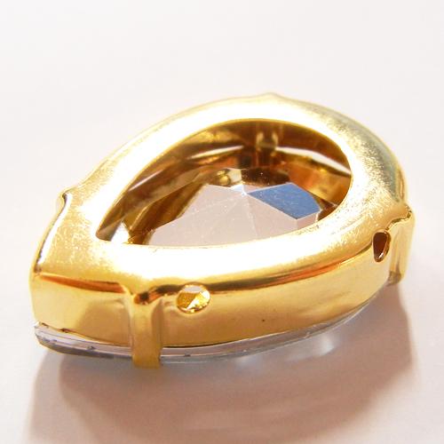 台座付アクリルダイヤパーツ(シズク)/P4320/金色/クリスタル/3個・100個