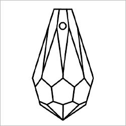 プレシオサペンダントトップ/ドロップ/P6000/クリスタル/2個入