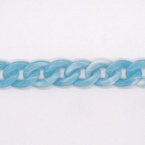 プラスチックチェーン/PLC-40/マーブル水色/20cm(16コマ)
