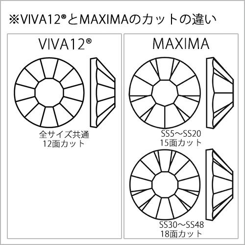 プレシオサ/ラインストーンVIVA12/ブラックダイアモンドオーロラ/小袋・大袋