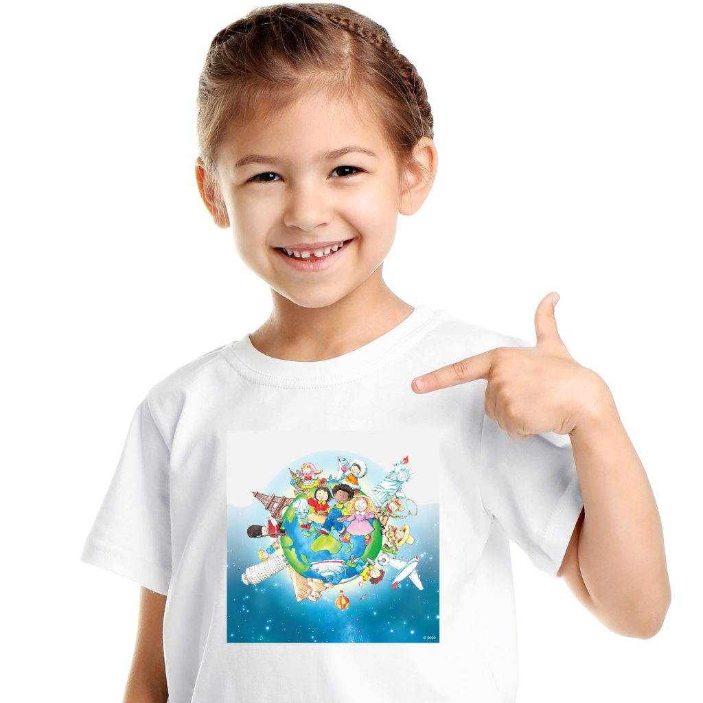 Learning World 地球ロゴTシャツ サイズ150