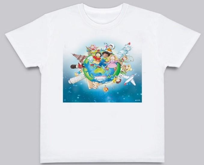 Learning World 地球ロゴTシャツ 【大人サイズ】M