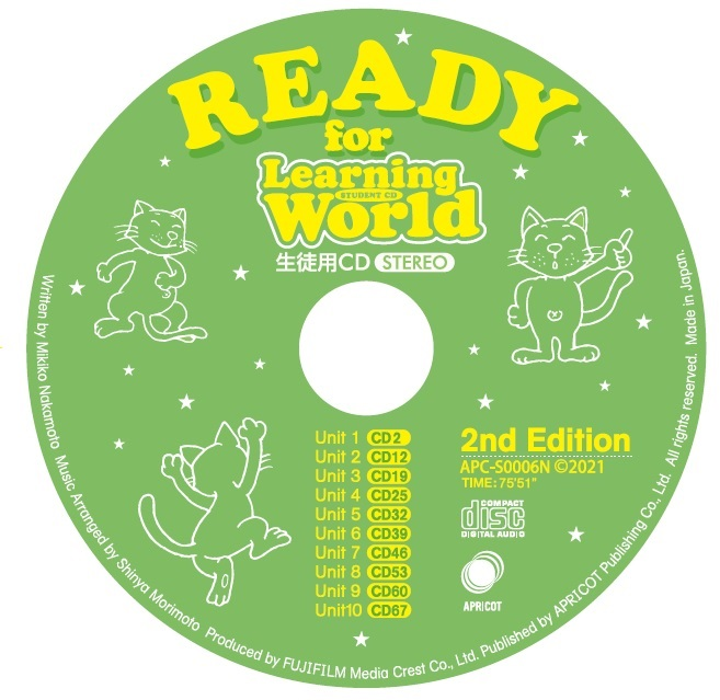 READY for Learning World (2nd Edition)生徒用CD
