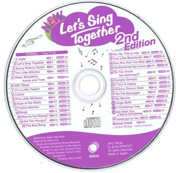 NEW Let's Sing Together 2nd Edition Music CD