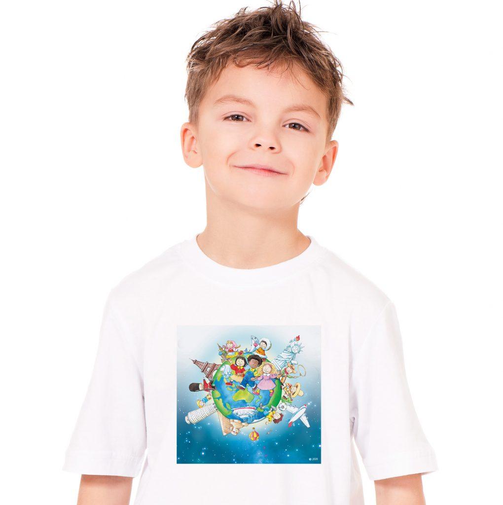 Learning World 地球ロゴTシャツ サイズ130