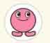 ピンクボッパー Stickers (直径12mm, 250片)
