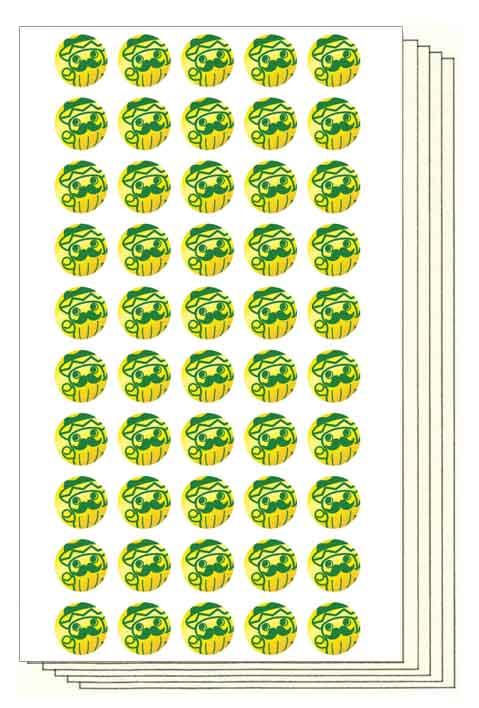 サボじぃ Stickers (直径12mm, 250片)