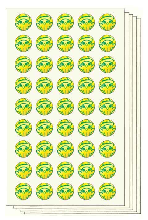 アミ Stickers (直径12mm・金, 250片)