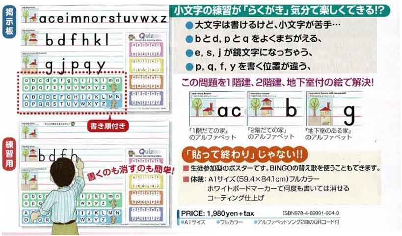 アルファベット練習ポスター(2枚セット)