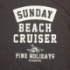 【SUNDAY BEACH CRUISER】カーブカコミロゴ半袖Tシャツ