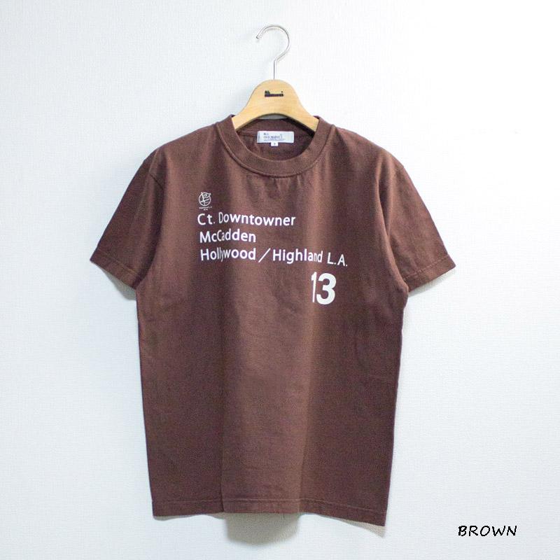 【別注反応染】HOLLYWOOD L.A.13半袖Tシャツ