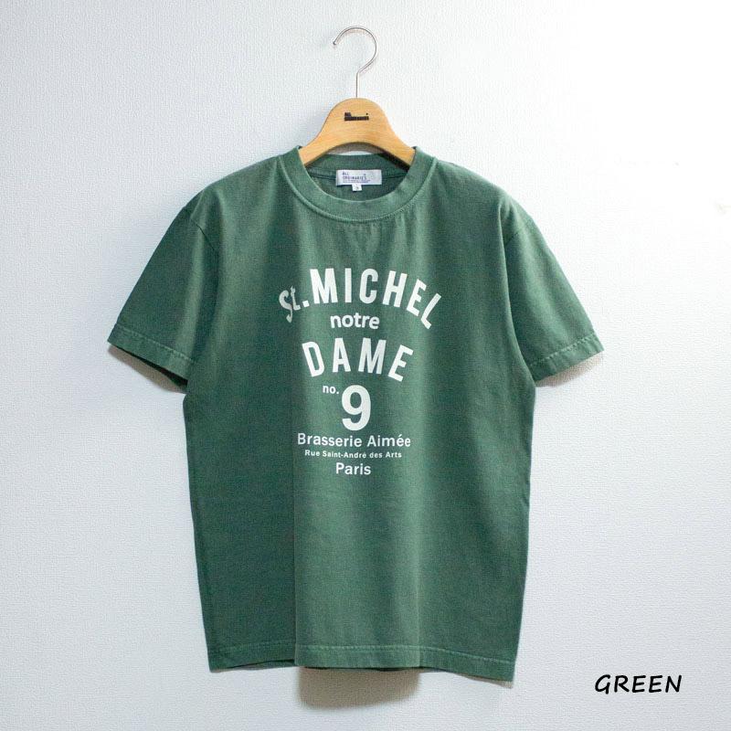 【別注ピグメント染】St.MICHEL半袖Tシャツ
