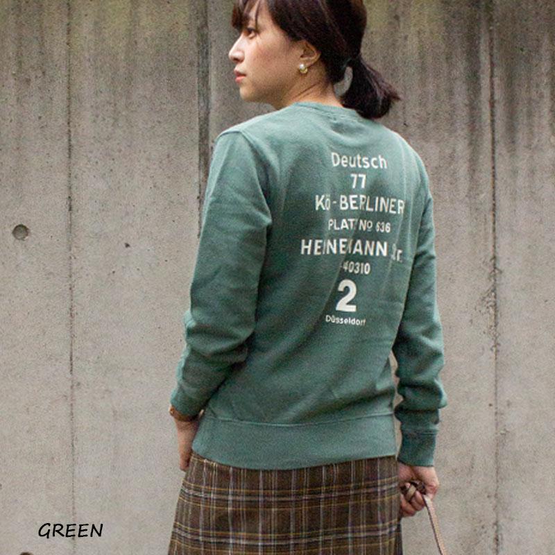 【反応染/ピグメント染】Deutsh77クルーネックスウェット