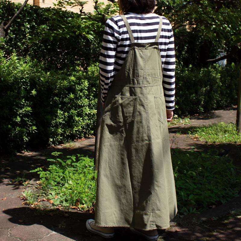 デニム/バックツイルジャンパースカート