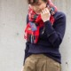 【TWEEDMILL(ツイードミル)】タータンチェックリバーシブルスカーフ