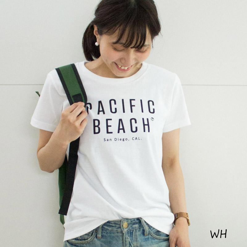 PACIFIC BEACH 半袖ロゴTシャツ