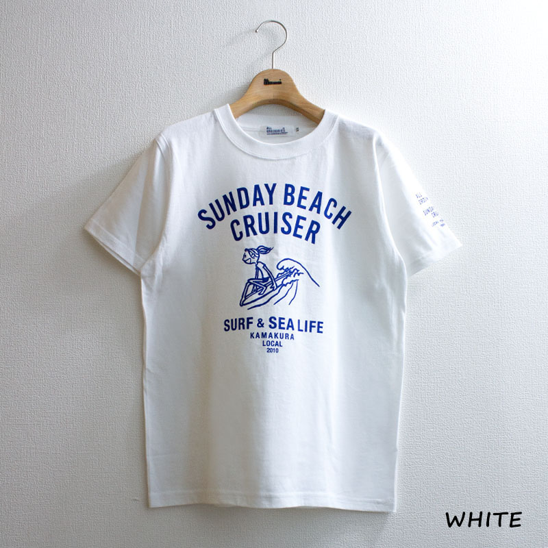 【SUNDAY BEACH CRUISER】波乗りMILEY半袖Tシャツ