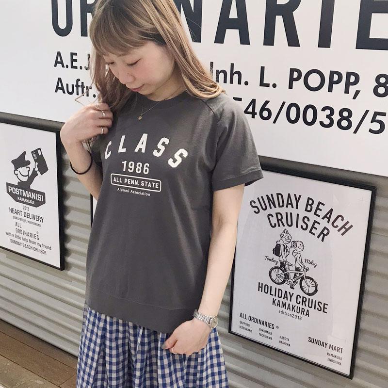 【別注反応染】CLASS1986ラグラン半袖Tシャツ
