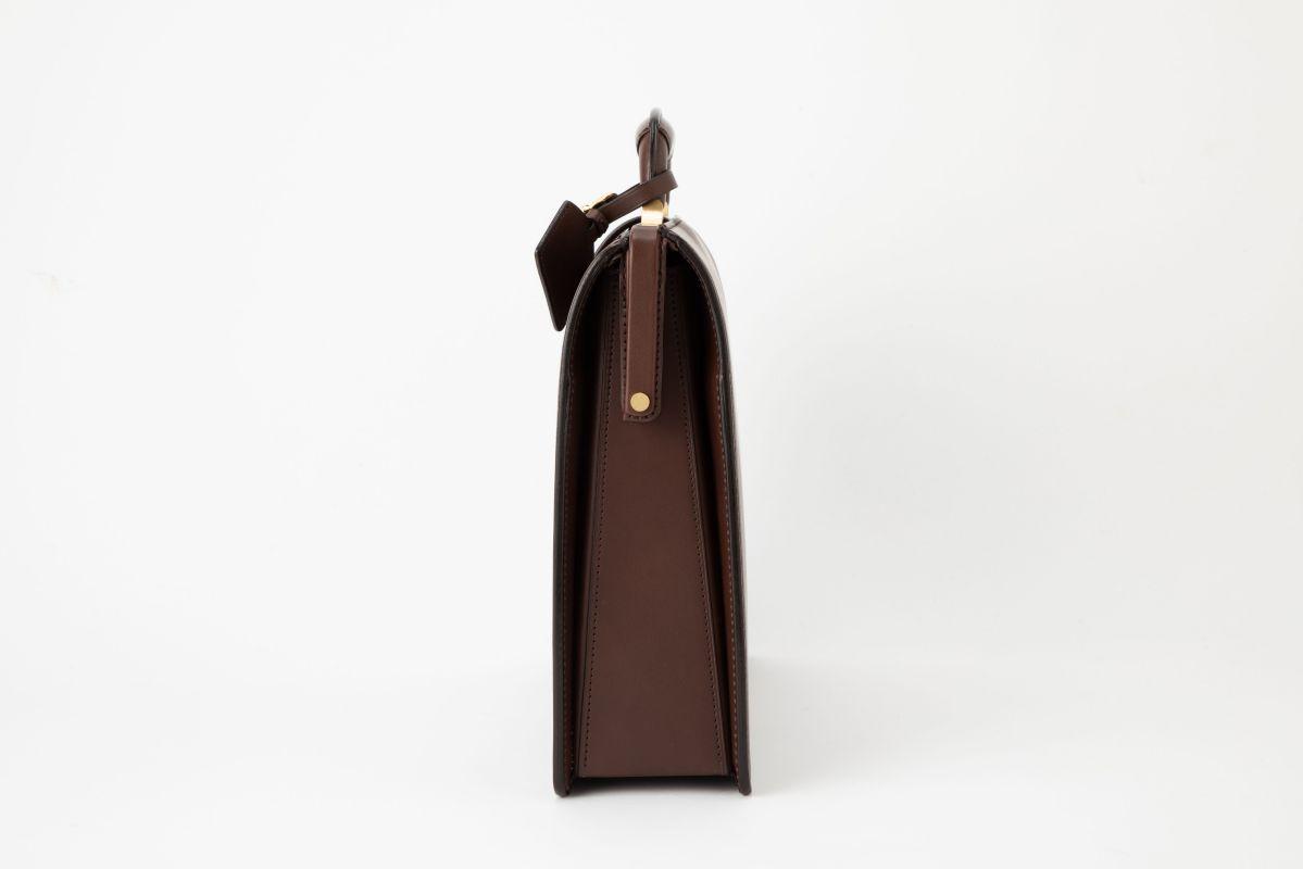 レザー バッグ 銀座タニザワ ロービキ ヌメスリム ダレス 小 (ブラウン)