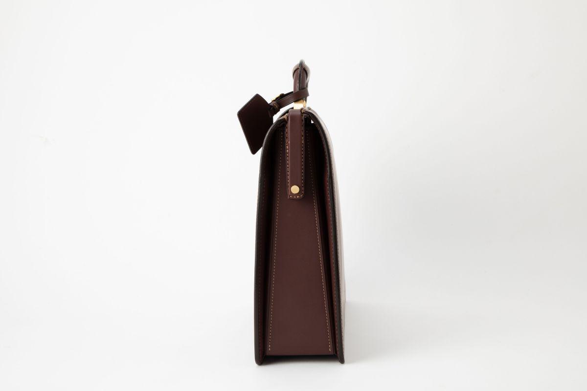 レザー バッグ 銀座タニザワ ロービキ ヌメスリム ダレス 小  (ワイン)