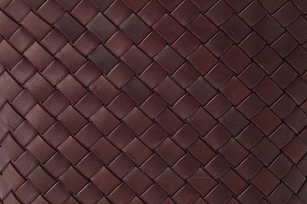 レディース レザー バッグ 銀座タニザワ メッシュ ポシェット 縦型 ブラウン