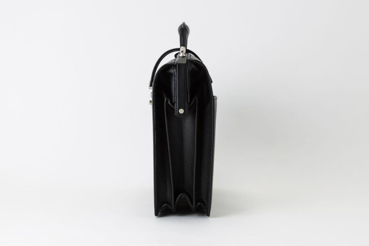 レザー バッグ 銀座タニザワ 角シボ ダレス (ブラック) ショルダー付