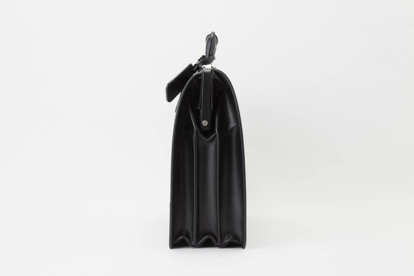 レザー バッグ 銀座タニザワ グレンライン ダレス バッグ 大(ブラック)