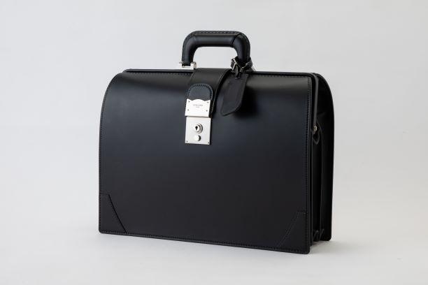 レザー バッグ 銀座タニザワ グレンライン ダレス バッグ  (小) ブラック