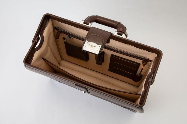 レザー バッグ 銀座タニザワ グレンライン ダレスバッグ (小) ブラウン