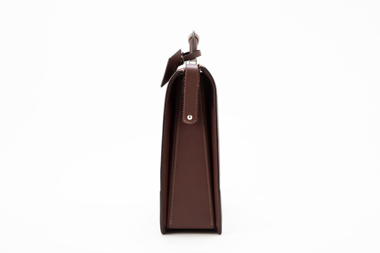 レザー バッグ 銀座タニザワ ダレスバッグ ロー引き口枠錠 小 (ワイン)