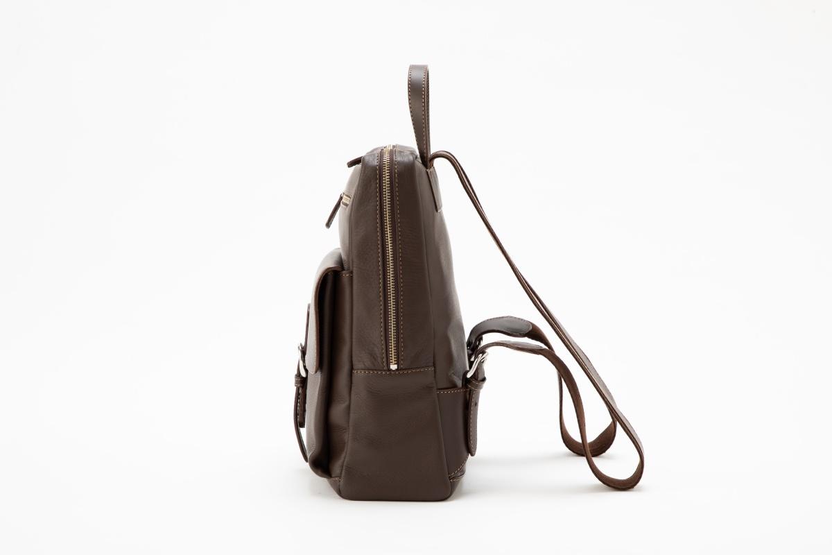 革 鞄 銀座タニザワ リュックサック ソフティー角型 (ブラウン)