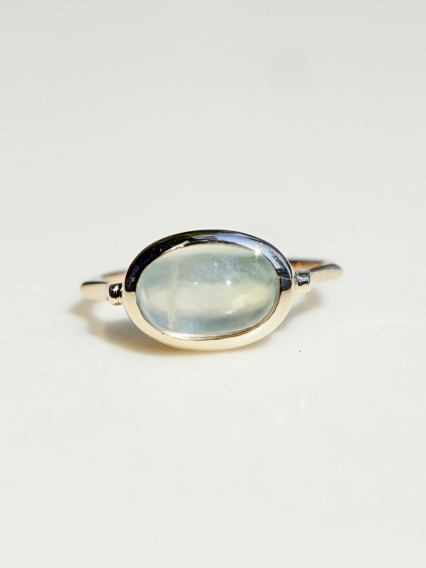 somon jewelryーPrehnite Ring K10 #9