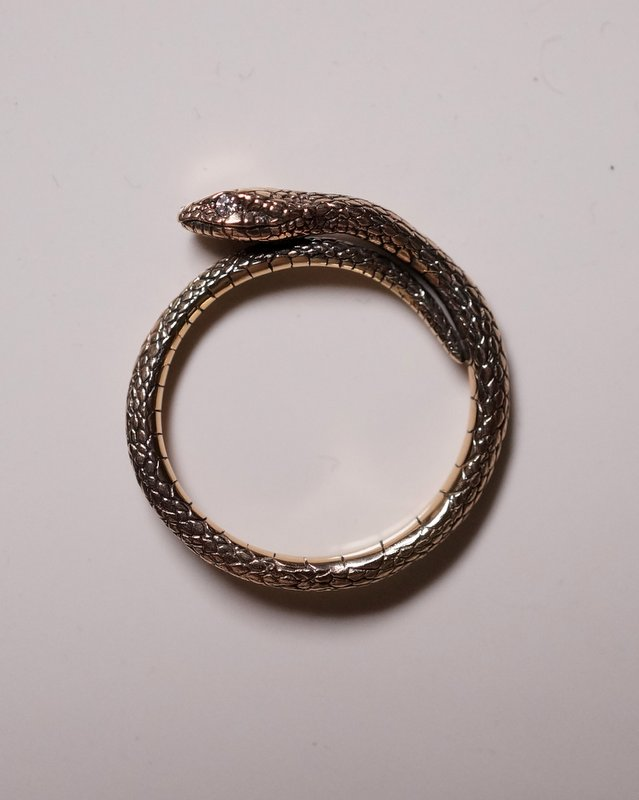 ELCAMI K10蛇リング ダイヤモンド (ER-114)