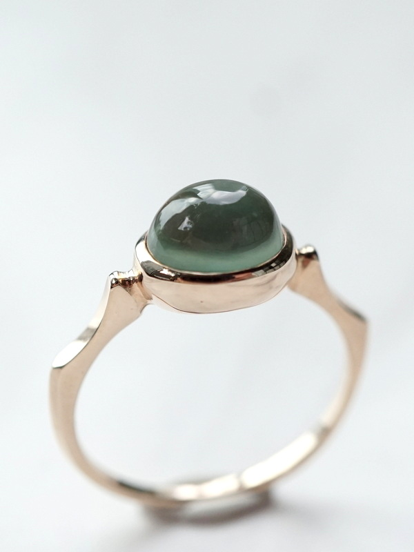 somon jewelryーPrehnite Ring K10 #14