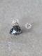 HAVITAS tri-cut gem pierce Black rutile quartz K10 片耳