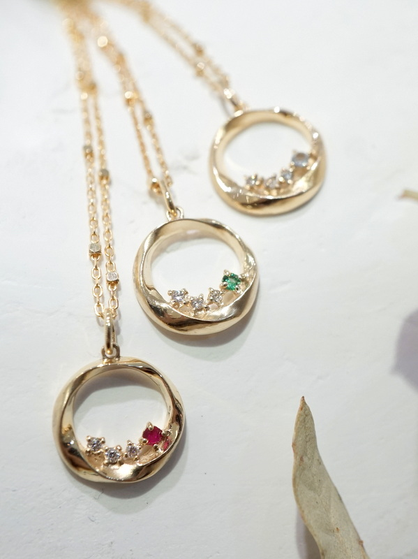 【Order Item】 Birthday happiness circle Necklace K10YG