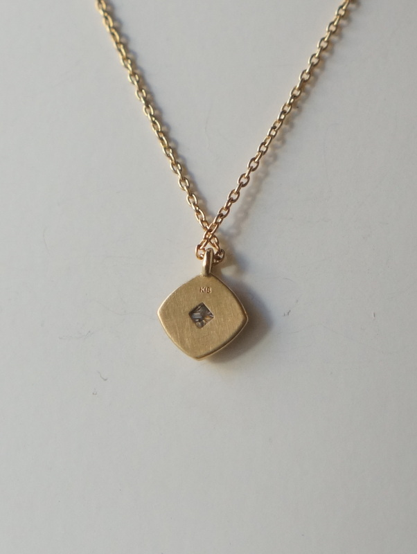 YES Square Holo Necklace K18
